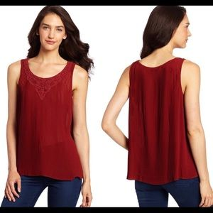 Lucky Brand┃Lindsay Pleated lace Tank